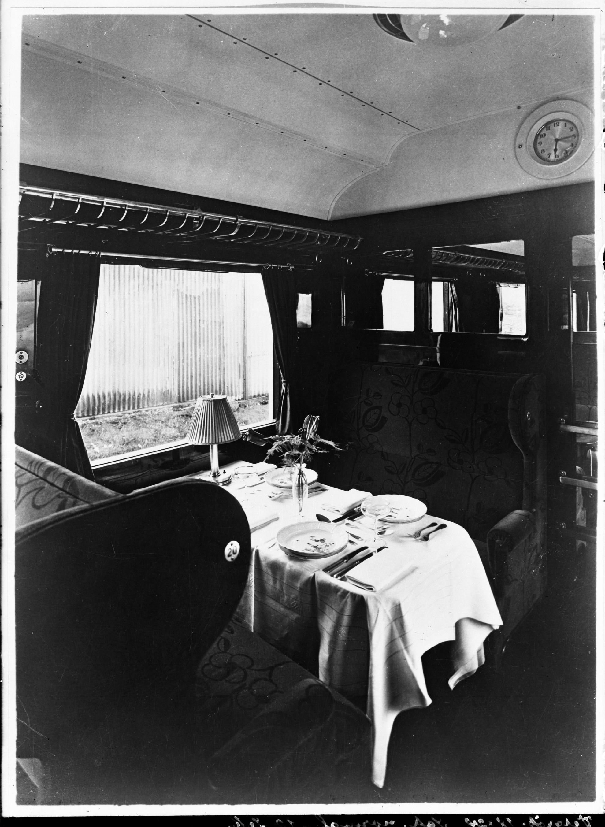 Rheingoldwagen, Speisewagen Sb 4ük, Nr. 24 507, 1. Klasse, Inneneinrichtung, 1928
