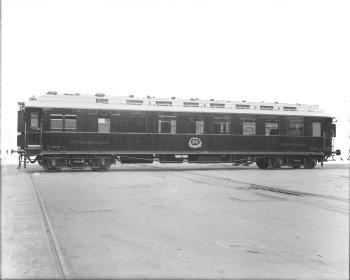 Speisewagen WR, NR. 2368 D, Teakholzaufbau, 1912